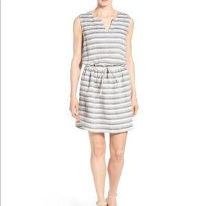 NWT Caslon Sleeveless Drawstring Linen Dress